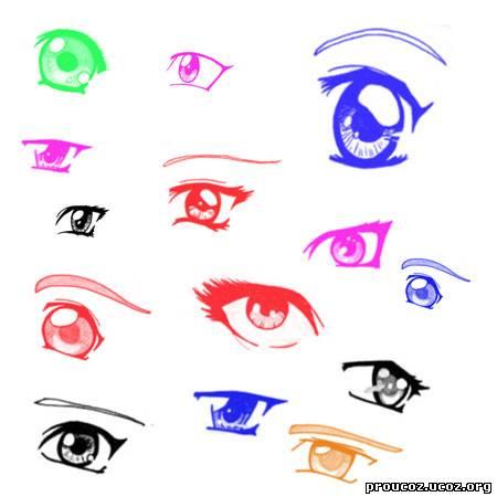 как рисовать мужские глаза